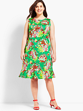 Springtime Floral Shift Dress