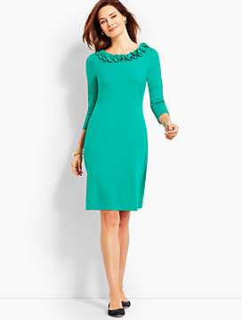 Ruffle Jersey Shift Dress