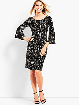Dot Jersey Shift Dress