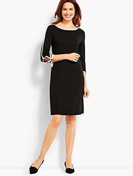 Elbow-Sleeve Jersey Dress
