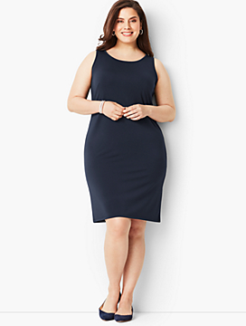 Plus Size Matte Jersey Shift Dress