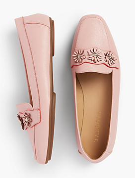 Becca Moccasins - Leather-With-Flowers