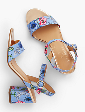 Bettie Floral Print City Sandals