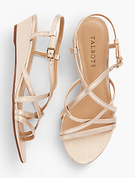 Capri Leather Sandals - Metallic