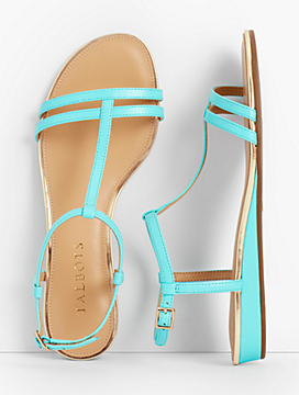 Daisy Micro-Wedge Sandals - Leather