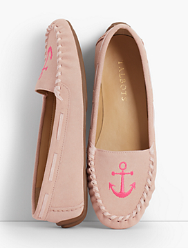 Everson Driving Moccasins - Embroidered Anchor