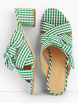 Georgia Knot Slides-Gingham