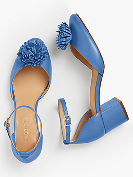 Isa Pom-Pom Pumps - Nappa Leather