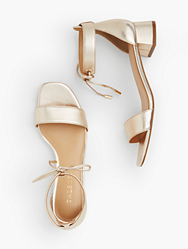 Naomi Metallic Leather Sandals