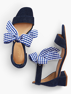 Naomi Scarf-Tie-Denim Sandals