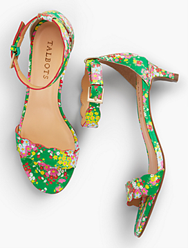 Pila Print Leather Sandals