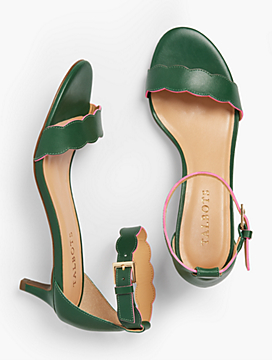 Pila Kitten-Heel Sandals - Vachetta Leather