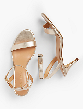 Rosalie Sandals-Metallic Nappa Leather
