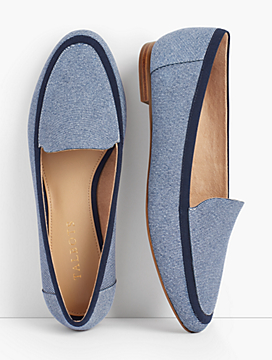 Ryan Loafers-Sueded Denim