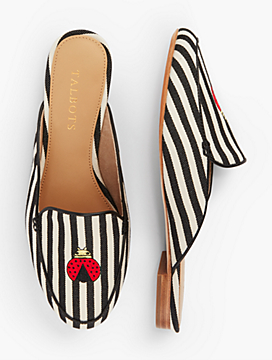 Ryan Striped Mules With Ladybug