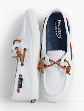 Sperry® Boat Shoes - Washed White
