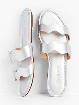Sadie Wave Slides - Metallic