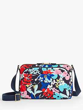 Floral Nylon Satchel Crossbody bag