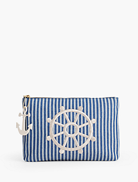 Stripe Denim Novelty Bag