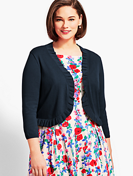 Plus Size Exclusive Ruffle-Trim Bolero Shrug