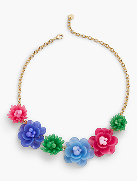 Mixed Media Flower Necklace