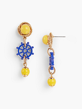 Rope & Wheel Earrings