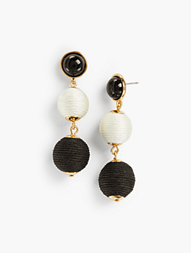 Thread-Wrapped Spheres Earrings