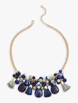 Beaded Raffia Necklace