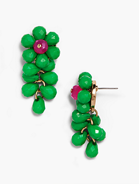 Statement Beaded Flower Earrings
