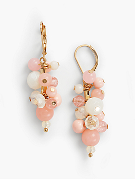 Beaded Cluster Earrings