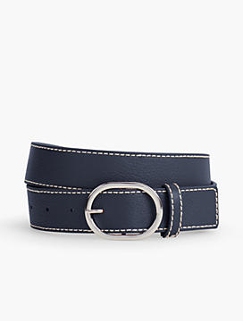 Womans Exclusive Pebble Leather Belt