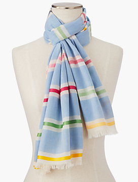 Ribbon-Stripe Scarf