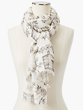 Birdcage Toile Scarf