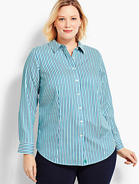 Womans Exclusive The Perfect Shirt - Stripe Print