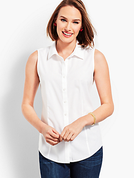 The Classic Sleeveless Button Front Shirt