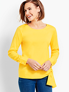 Poplin Side-Tie Top