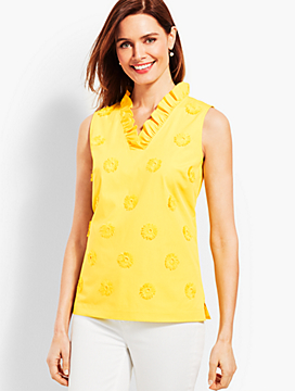 Ruffle-Neck Top