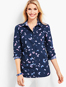 Classic Casual Shirt - Tossed Butterflies