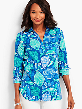 The Classic Casual Popover - Under-the-Sea Print