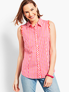 Perfect Scallop Shirt - Sandbar Check
