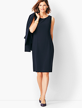 Easy Travel Suiting Sheath Dress