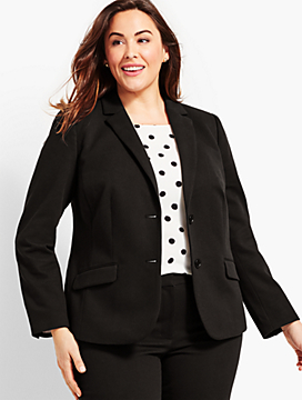 Textured Two-Button Blazer