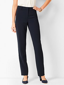 Easy Travel Suiting Straight-Leg Pant