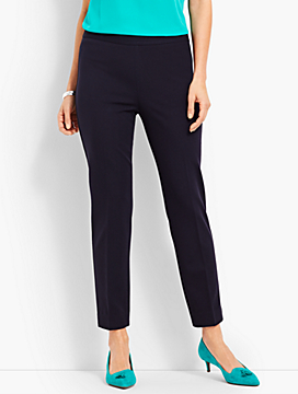 Luxe Knit Slim Ankle Pant
