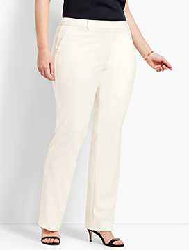 Luxe Italian Double-Cloth Barely Boot Pant
