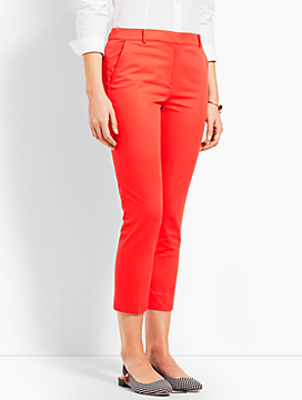 Twill Cambridge Slim Crop