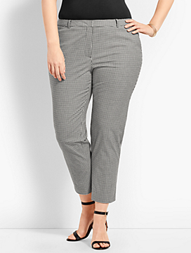 Slim Crop Pant - Gingham