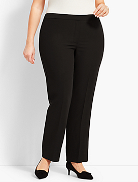 Seasonless Crepe Straight-Leg - Curvy Fit