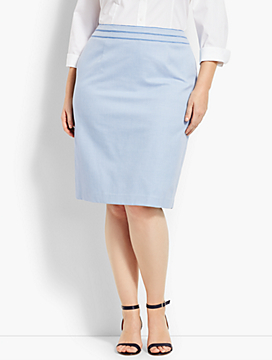Birdseye Pencil Skirt