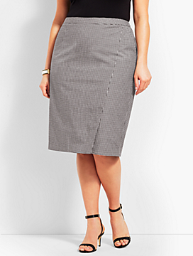 Pencil Skirt - Gingham